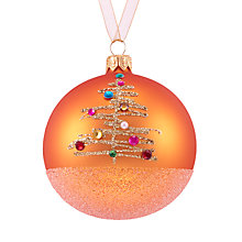 Buy John Lewis Tales of the Maharaja Jewelled Tree Bauble, Orange Online at johnlewis.com