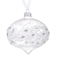 Buy John Lewis Winter Palace Feather Band Onion Bauble, Clear Online at johnlewis.com