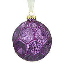 Buy John Lewis Into the Woods Honeycomb Bauble, Purple Online at johnlewis.com