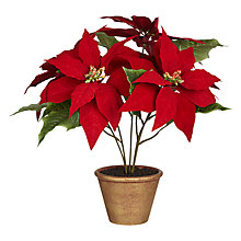 Buy John Lewis Artificial Potted Poinsettia, H46cm Online at johnlewis.com