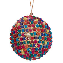 Buy John Lewis Tales of the Maharaja Pompom Spot Bauble, Multi Online at johnlewis.com