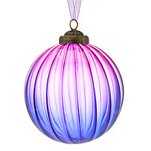 Buy John Lewis Into the Woods Ribbed Ombre Bauble, Purple Online at johnlewis.com