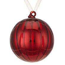 Buy John Lewis Highland Myths Ribbed Bauble, Red Online at johnlewis.com