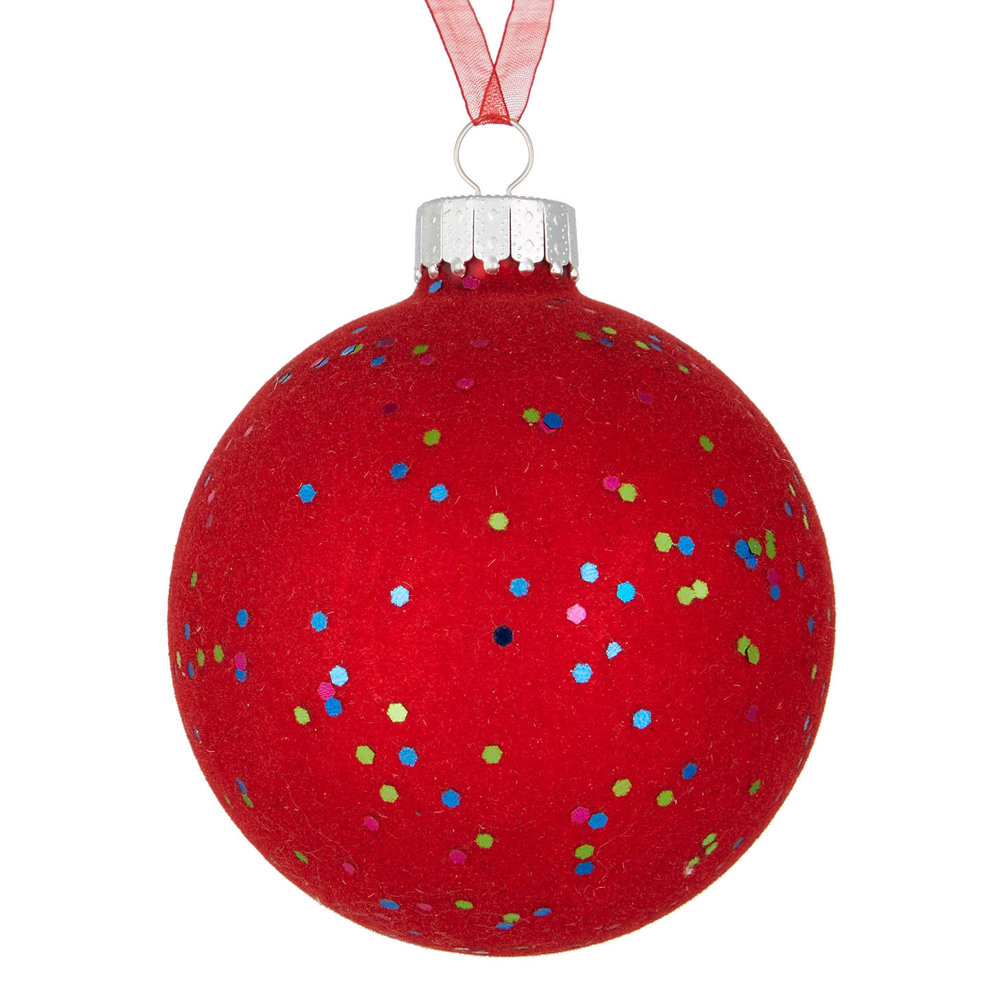 Buyjohn Lewis Lima Llama Sequin Flock Bauble, Red Online At