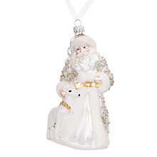 Buy John Lewis Winter Palace Santa with Deer Bauble Online at johnlewis.com