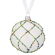Buy John Lewis Lima Llama Trellis Sprinkle Bauble Online at johnlewis.com