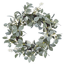 Buy John Lewis Winter Palace Snowy Eucalyptus White Berries Wreath Dia.41cm, Green Online at johnlewis.com