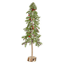 Buy John Lewis Folklore Tall Tabletop Artificial Christmas Tree with Red Berries, H70cm Online at johnlewis.com