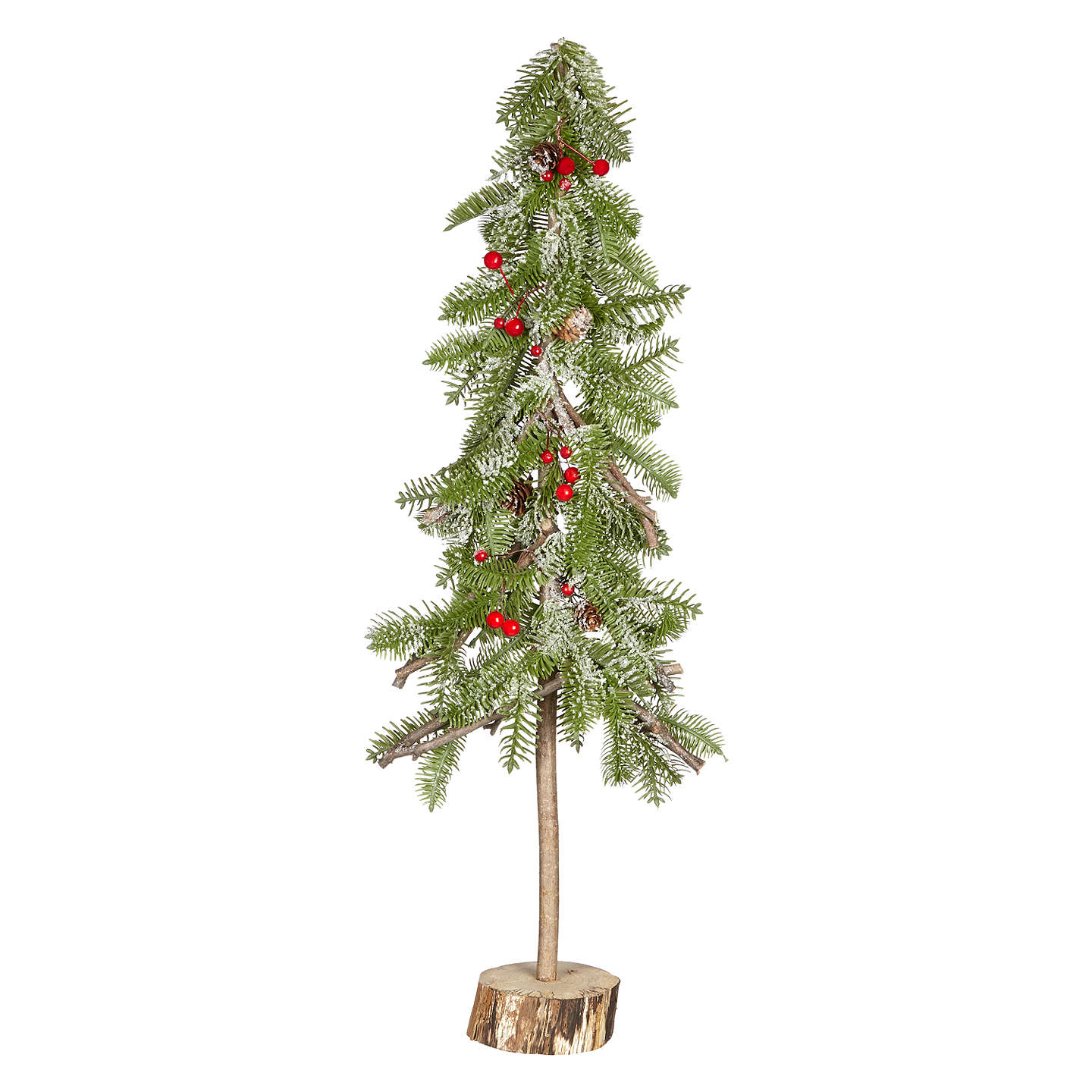 Buyjohn Lewis Folklore Tall Tabletop Artificial Christmas Tree With Red