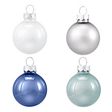 Buy John Lewis Winter Palace Mini Glass Bauble, Pack of 28 Online at johnlewis.com