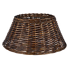 Buy John Lewis Lima Llama Wicker Tree Skirt, Chocolate Online at johnlewis.com