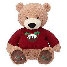 Buy John Lewis Christmas Jumper Lewis Bear 2017 Soft Toy, Large Online at johnlewis.com