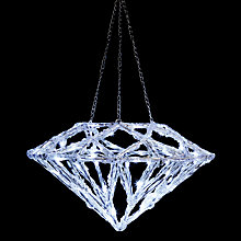 Buy John Lewis Hanging LED Diamond Online at johnlewis.com