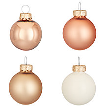 Buy John Lewis Highland Myths Mini Glass Baubles, Tube of 28, Copper Mix Online at johnlewis.com