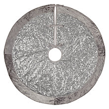 Buy John Lewis Winter Palace Sequin Tree Skirt, Silver, 125cm Online at johnlewis.com
