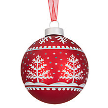 Buy John Lewis Folklore Snowflake Trees Bauble Online at johnlewis.com