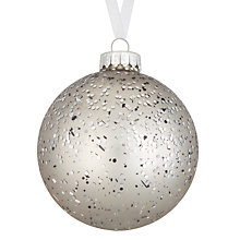 Buy John Lewis Highland Myths Glitter Spray Bauble, Silver Online at johnlewis.com