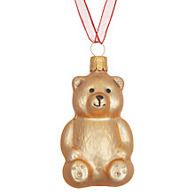 Buy John Lewis Folklore Teddy Bear Tree Decoration Online at johnlewis.com