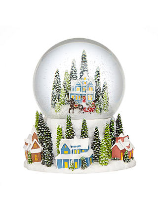 Buy John Lewis Winter Village Snow Globe Online at johnlewis.com