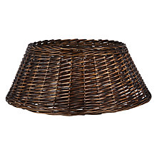 Buy John Lewis Into the Woods Wicker Tree Skirt, Chocolate, XL Online at johnlewis.com