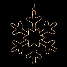 Buy John Lewis LED Christmas Snowflake Silhouette Online at johnlewis.com