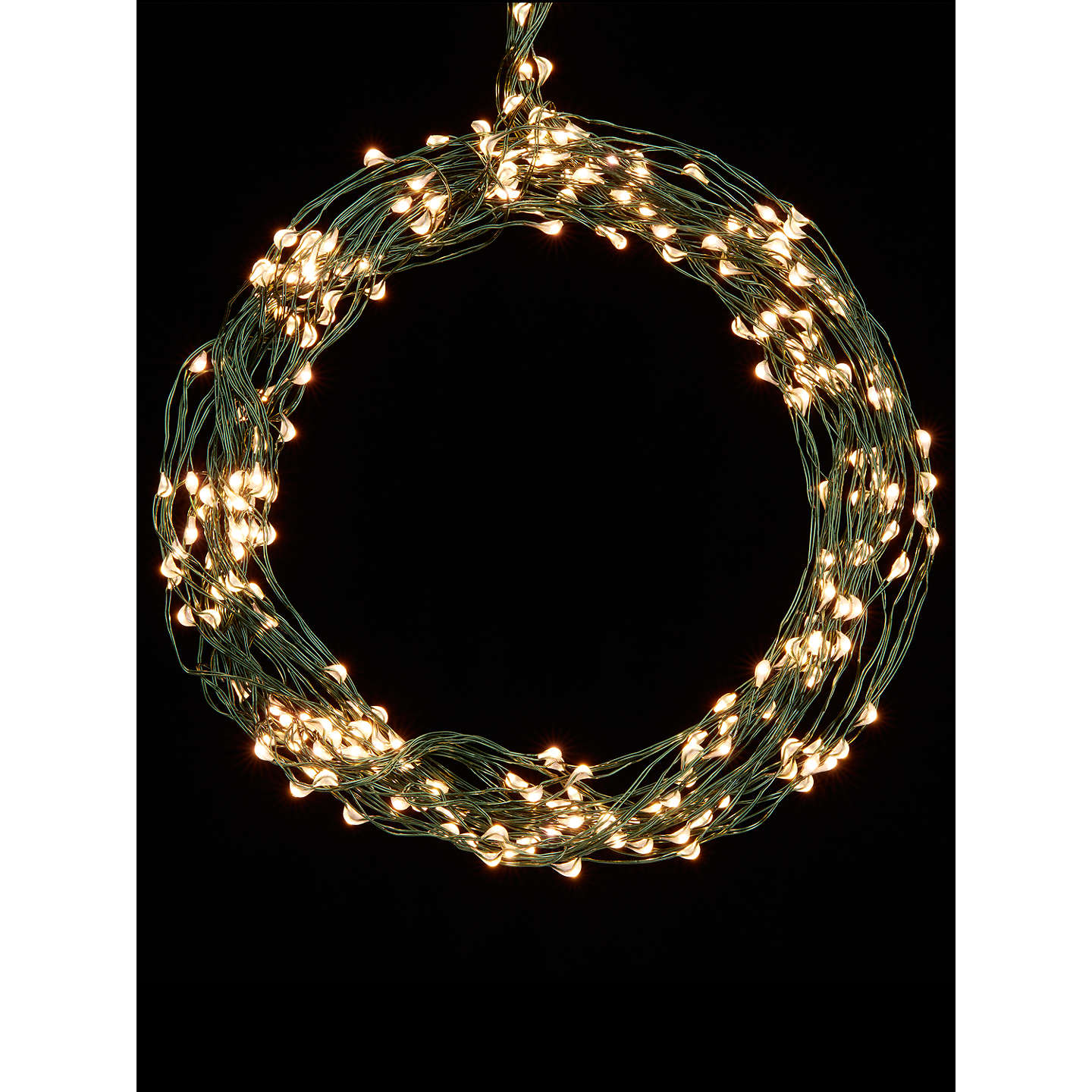Outdoor String Lights John Lewis: John Lewis 160 LED Waterfall Christmas Lights, 9m, Pure