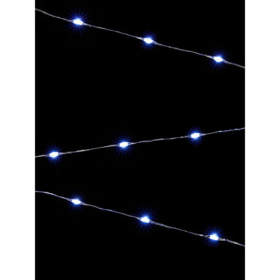 John Lewis 160 LED Ice White Christmas Lights, 17m