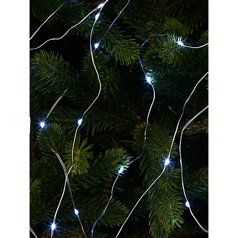 buy john lewis 672 led waterfall twinkle christmas lights ice white 7ft tree online - Waterfall Christmas Lights