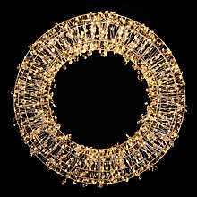 Buy John Lewis Silver Micro 700 Led Wreath Online at johnlewis.com