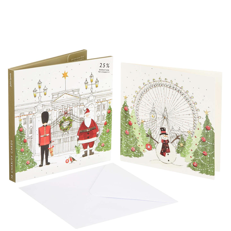 Buyjohn Lewis Festive London Charity Christmas Card, Pack Of 10