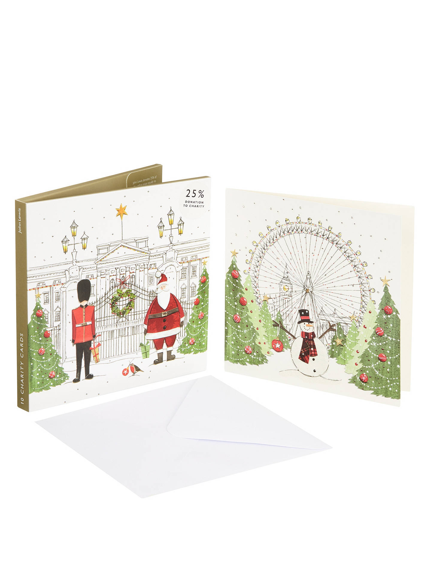 John Lewis Festive London Charity Christmas Card, Pack of 10 at John ...