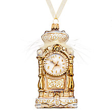 Buy John Lewis Winter Palace Grandfather Clock Bauble Online at johnlewis.com