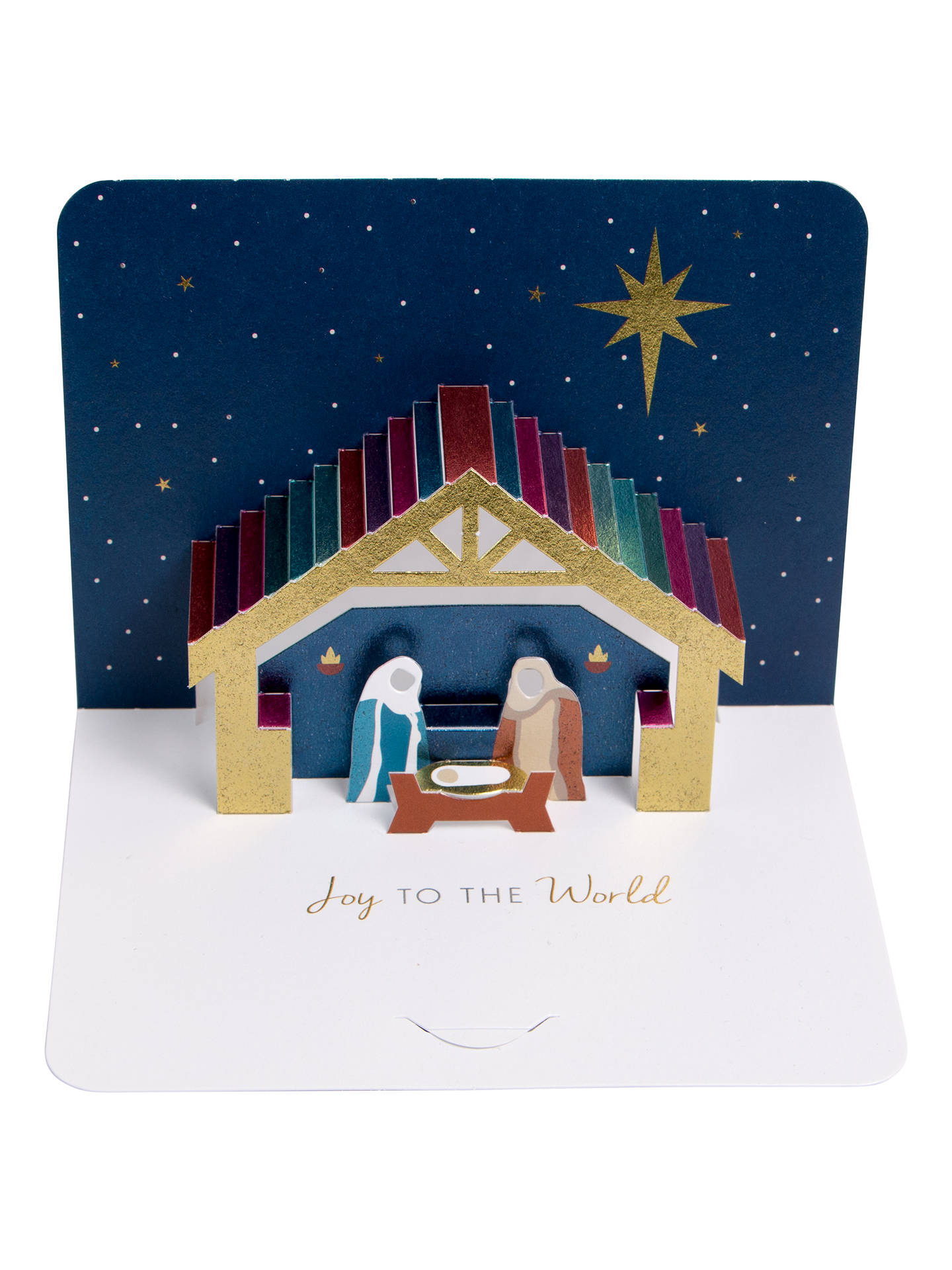 Art File Luxury Hand Folded Nativity Christmas Cards, Pack of 5 at ...