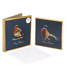 Buy John Lewis Ben Rothery Pheasant Charity Christmas Card, Pack of 10 Online at johnlewis.com