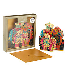 Buy John Lewis Tale of the Maharaja Elephant Family Charity Christmas Card, Pack of 5 Online at johnlewis.com