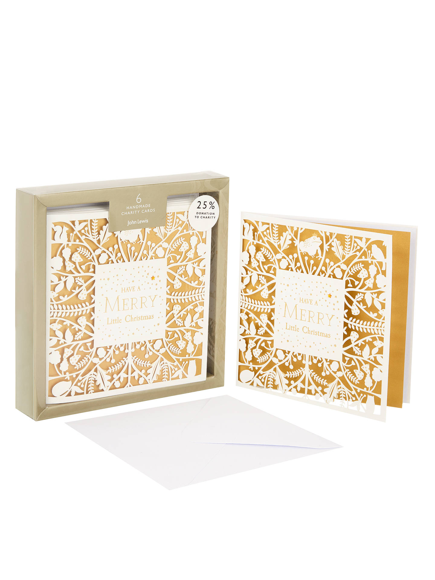 John Lewis Into the Woods Premium Laser Cut Charity Christmas Card ...