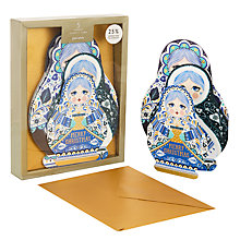 Buy John Lewis Winter Palace Baboushka Family Charity Christmas Card, Pack of 5 Online at johnlewis.com