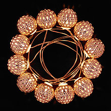 Buy John Lewis 12 Indian Ball LED Christmas Lights Online at johnlewis.com