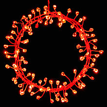Buy John Lewis 240 LED Firecracker Lights, Red, Silver Wire, 10.7m Online at johnlewis.com