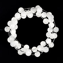 Buy John Lewis 160 LED Frosted Snowball Christmas Lights, White, 15.5m Online at johnlewis.com