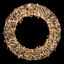 Buy John Lewis Silver Micro 320 Led Wreath Online at johnlewis.com