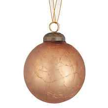 Buy John Lewis Highland Myths Crackle Bauble, Bronze Online at johnlewis.com