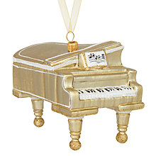 Buy John Lewis Winter Palace Golden Piano Bauble Online at johnlewis.com