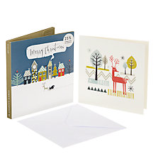Buy John Lewis Deer and Sleigh Charity Christmas Card, Pack of 10 Online at johnlewis.com