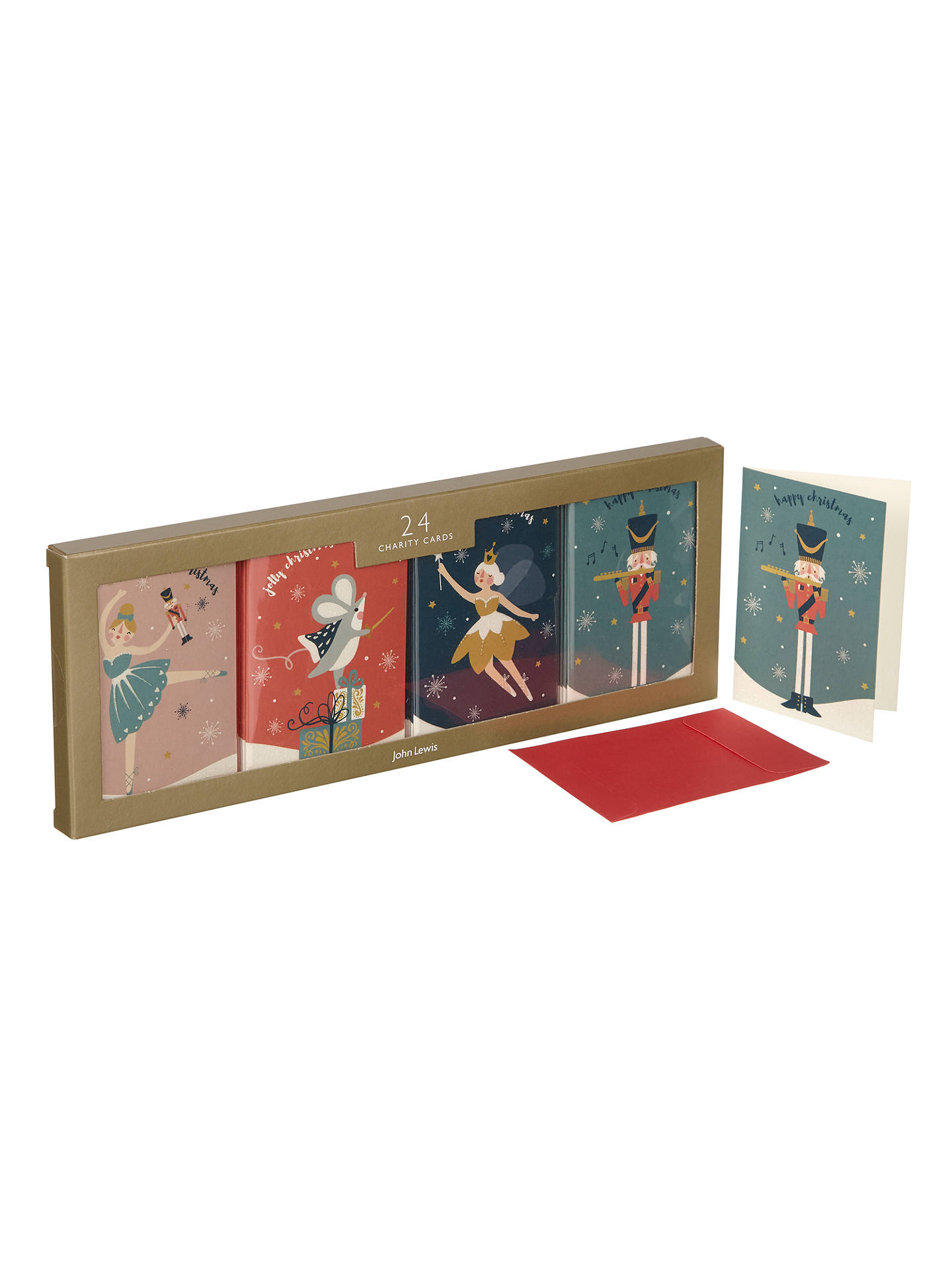 John Lewis Nutcracker Mini Charity Christmas Card, Pack of 24 at ...