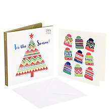 Buy John Lewis Lima Llama Bobble Hats and Tree Charity Christmas Card, Pack of 10 Online at johnlewis.com