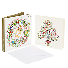 Buy John Lewis Wreath and Tree Charity Christmas Card, Pack of 10 Online at johnlewis.com