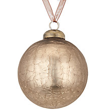 Buy John Lewis Highland Myths Crackle Bauble, Pewter Online at johnlewis.com
