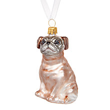 Buy John Lewis Winter Palace Lovable Pug Bauble Online at johnlewis.com