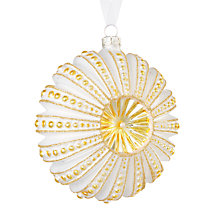 Buy John Lewis Winter Palace Disc Bauble, Oyster Online at johnlewis.com